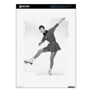 Woman Figure Skating iPad 3 Decals