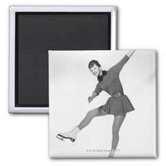 Woman Figure Skating Magnet