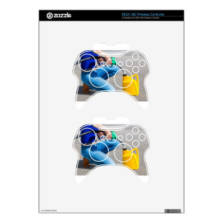 Woman filling yellow can with gasoline or petrol. xbox 360 controller skin