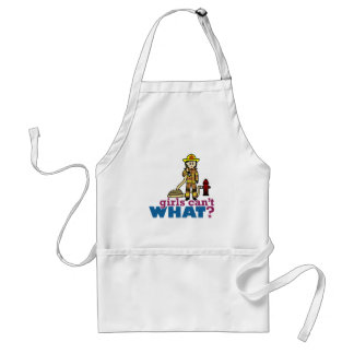 Woman Firefighter Adult Apron