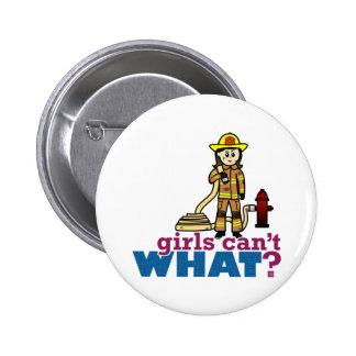 Woman Firefighter Pinback Buttons