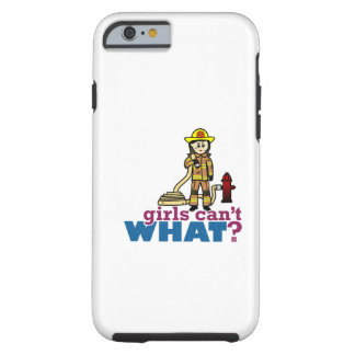 Woman Firefighter Tough iPhone 6 Case