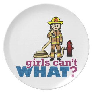 Woman Firefighter Plate
