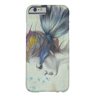 Woman fish surreal art textured iPhone 6 case