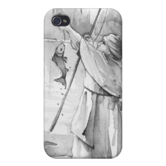Woman fishing iPhone 4 covers