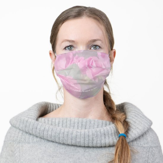 Woman Floral Roses Birthday Design  Adult Cloth Face Mask