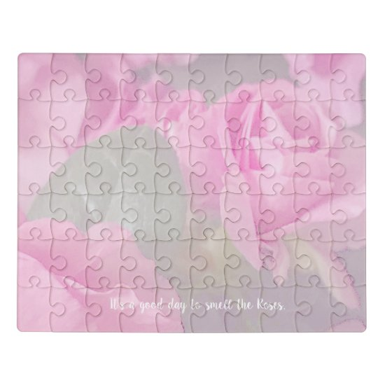 Woman Floral Roses Birthday Design  Jigsaw Puzzle