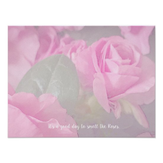 Woman Floral Roses Birthday Design  Poster