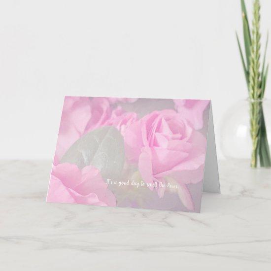 Woman Floral rosesBirthday Design Card