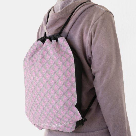 Woman Floral rosesBirthday Design  Drawstring Bag