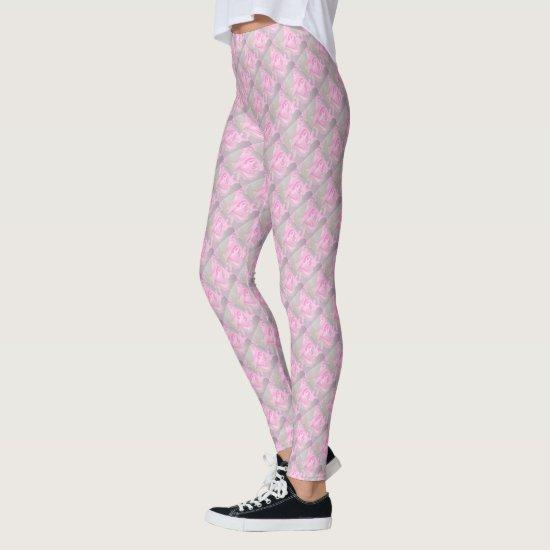 Woman Floral rosesBirthday Design  Leggings