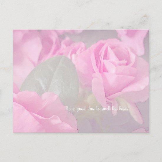 Woman Floral rosesBirthday Design  Postcard