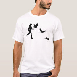 Woman Flying Harris Hawks T-Shirt