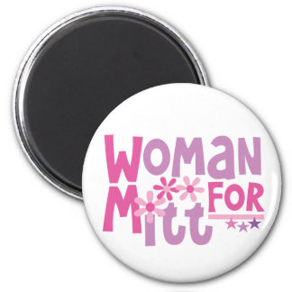 Woman FOR Mitt Romney - Cute Romney 2012 Magnets