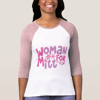 Woman FOR Mitt Romney - Cute Romney 2012 T-Shirt