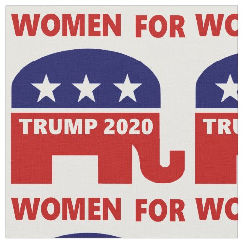 Woman For Trump 2020 popular red white and blue Fabric