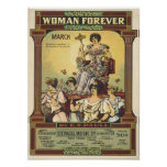 Woman Forever Vintage Songbook Cover Poster