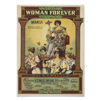Woman Forever Vintage Songbook Cover Posters