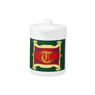 Woman Frame Tea Pot , edit  initial