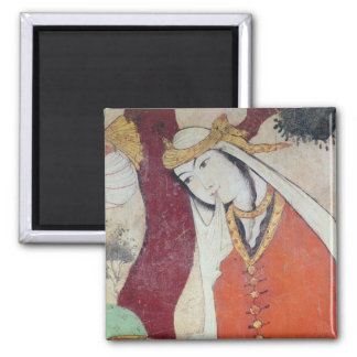 Woman from the Court of Shah Abbas I, 1585-1627 Magnet