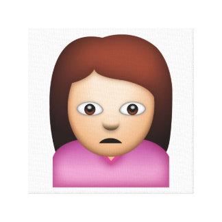 Woman Frowning - Emoji Canvas Print