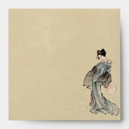Woman, full-length portrait envelope