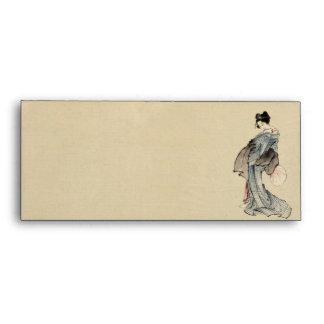Woman, full-length portrait envelopes