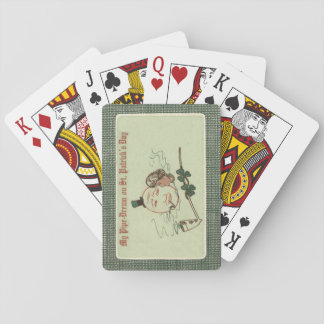 Woman Full Moon Shamrock Clay Pipe Playing Cards