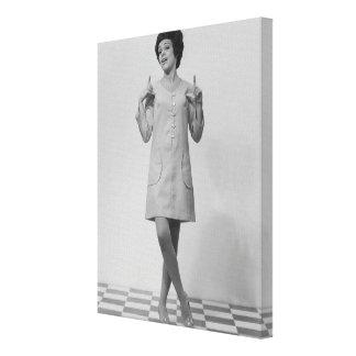 Woman Gesturing Canvas Prints