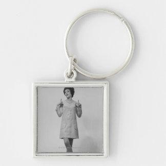 Woman Gesturing Keychain