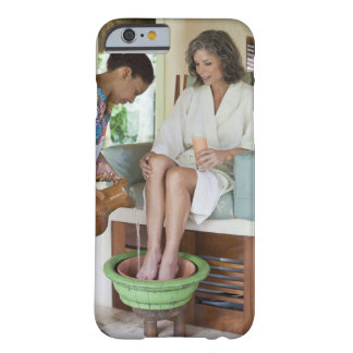 Woman getting a footbath at a spa in Mexico. Barely There iPhone 6 Case