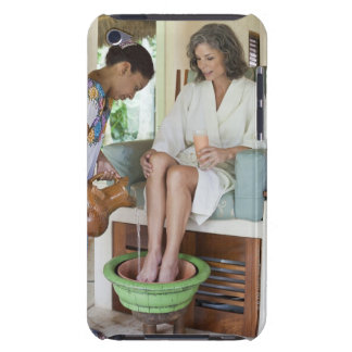 Woman getting a footbath at a spa in Mexico. Barely There iPod Cover