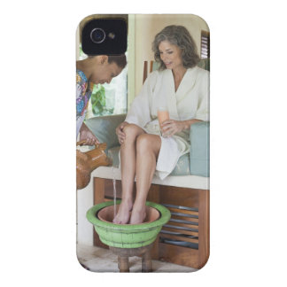 Woman getting a footbath at a spa in Mexico. Case-Mate iPhone 4 Case