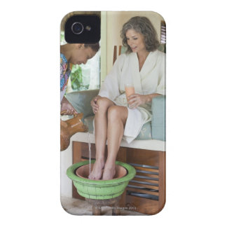Woman getting a footbath at a spa in Mexico. iPhone 4 Case-Mate Case