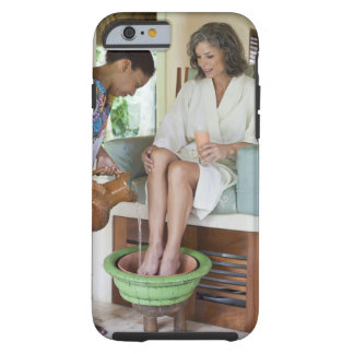 Woman getting a footbath at a spa in Mexico. Tough iPhone 6 Case