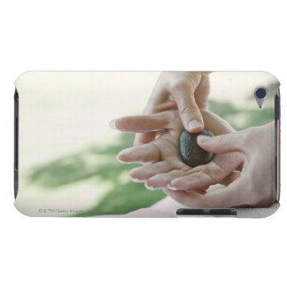 Woman getting hand massage with hot stone Case-Mate iPod touch case