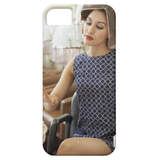 Woman Getting Manicure iPhone 5 Covers