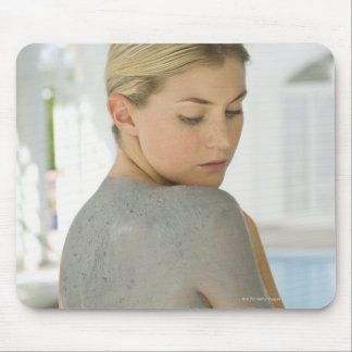 Woman getting spa skin treatment mouse pad