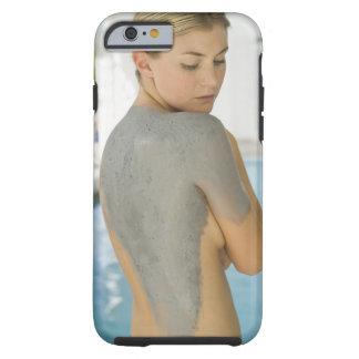 Woman getting spa skin treatment tough iPhone 6 case