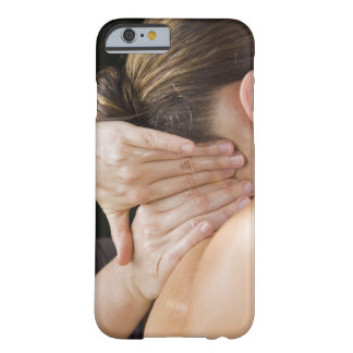 Woman getting spa treatment barely there iPhone 6 case