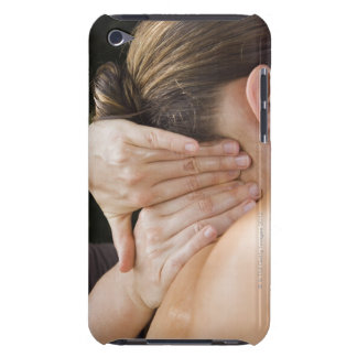 Woman getting spa treatment barely there iPod cases
