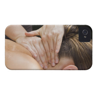 Woman getting spa treatment iPhone 4 case