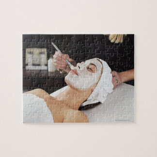 Woman Getting Spa Treatment. Jigsaw Puzzle
