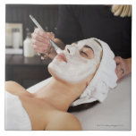 Woman Getting Spa Treatment. Large Square Tile