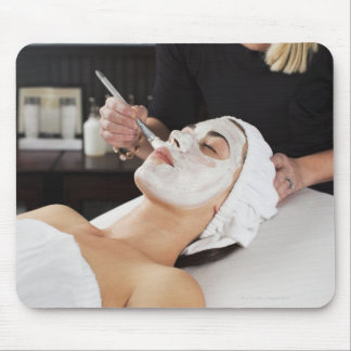 Woman Getting Spa Treatment. Mouse Pad
