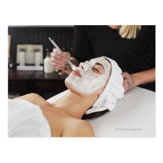 Woman Getting Spa Treatment. Postcard