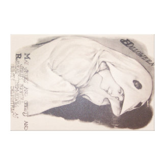 Woman Ghost Costume Sheet Sepia Canvas Print