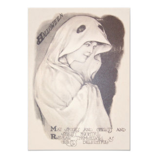 Woman Ghost Costume Sheet Sepia Card
