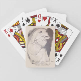 Woman Ghost Costume Sheet Sepia Poker Cards
