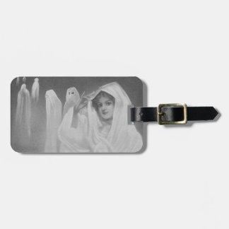 Woman Ghost Costume Trick Or Treat Luggage Tag